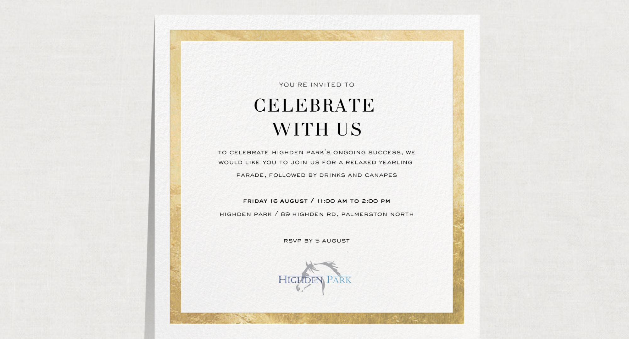 Highden Park Event Invite